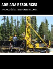 ADRIANA RESOURCES - The International Resource Journal