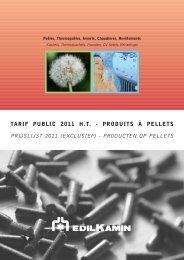 TARIF PUBLIC 2011 H.T. - PRODUITS À PELLETS PRIJSLIJST ...