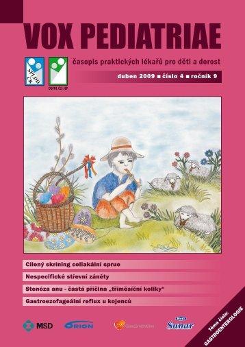 vox pediatriae 4/2009 - Dětský lékař
