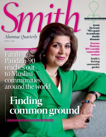 Finding common ground - Smith Alumnae Quarterly - Smith College