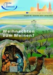 Gemeindebrief Dezember 2012 - Januar 2013 - Kirchengemeinde ...