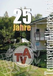 Festschrift 25 Jahre TVA - Tennisverein Altenseelbach eV - T-Online