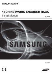 16CH NETWORK ENCODER RACK - Samsung