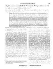 Staphylococcus aureus: The Toxic Presence of a Pathogen ...
