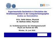 Simulation - AG Physik und Technik in der bildgebenden Diagnostik
