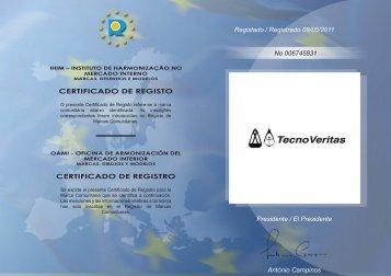 CERTIFICADO DE REGISTO CERTIFICADO DE ... - Tecnoveritas.net