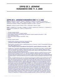 ZÁPIS ZE 2. JEDNÁNÍ KONANÉHO DNE 11. 5. 2000