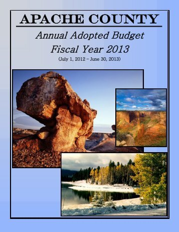 Fiscal Year 2013 Budget - Apache County