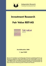 Investmentstudie, Independent Research (7. April 2009)