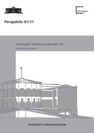 Perspektiv 01/11 - Stortinget