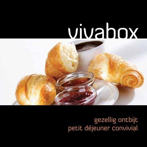 gezellig ontbijt petit déjeuner convivial - Vivabox