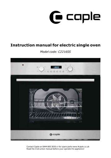 Instruction manual - Caple