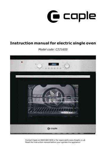 Instruction manual - Caple