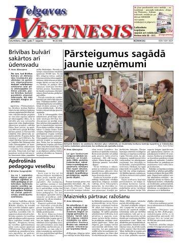 2008. gada 7.augusts. Nr.32(64) - Jelgavas Vēstnesis