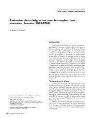 Évaluation de la fatigue des muscles respiratoires ... - SPLF