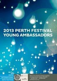 2013 PERTH FESTIVAL YOUNG AMBASSADORS