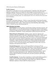 YWCA New ED Job Description
