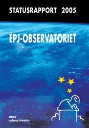 Statusrapport 2005 - EPJ-Observatoriet