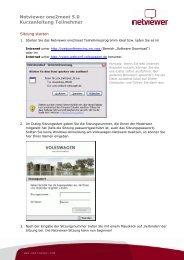 Netviewer one2meet 5.0 Kurzanleitung Teilnehmer - Webconf ...