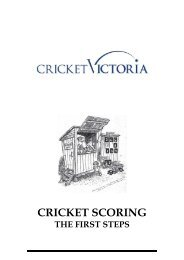 Cricket scoring the first steps