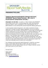Download Pressemeldung - SPONSORs Sports Media Summit