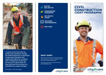 to view full information regarding the City Care Cadet Programme