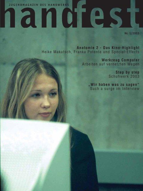 Anatomie 2 - Das Kino-Highlight Heike Makatsch ... - Handfest-Online