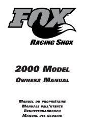 2000 MODEL - Fox