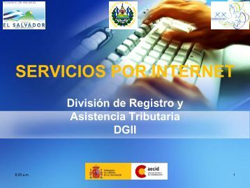 servicios por internet - Ministerio de Hacienda