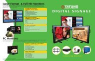 Digital Signage Brochure - Tatung