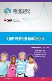 CHIP MEMBER HANDBOOK - Sendero Health Plans