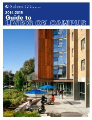 Guide to Living on Campus 2013-2014 - Salem State University