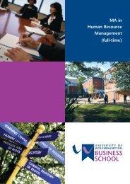 IR1564 MA in HRM - University of Wolverhampton