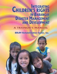 Integrating Children's Rights in Barangay Disaster ... - INEE Toolkit
