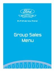 Group Sales Menu