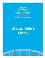 Group Sales Menu