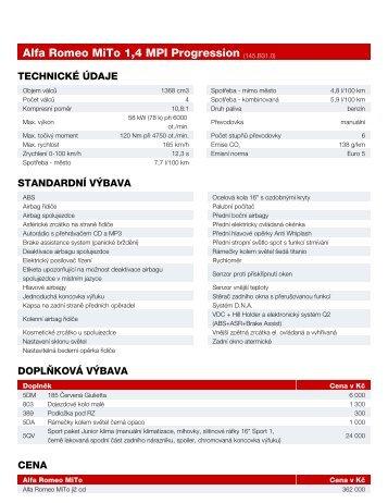 Alfa Romeo MiTo 1,4 MPI Progression (145.B31.0)