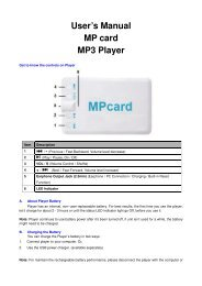User's Manual MP card MP3 Player - Lenco