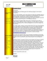 Newsletter - June 2007 - Castle Hill RSL Photography Club