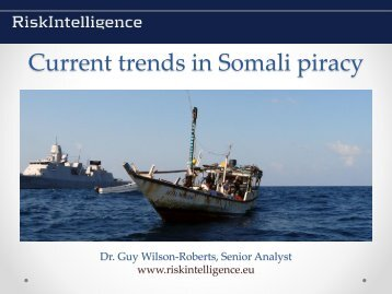 Current trends in Somali piracy