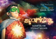 2012 - 2013 Annual Report - Wausau School Foundation