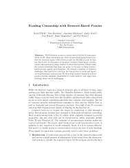 Evading Censorship with Browser-Based Proxies - Stanford Crypto ...