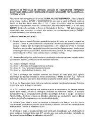 Contrato Hosting - GVT