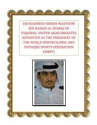 his highness sheikh maktoum bin hamad al sharqi of fujairah ... - ABBF