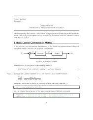 Matlab/Simulink refresher + exercises - Automatic Control Laboratory