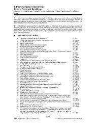 Supplement 1 - L-3 Communications