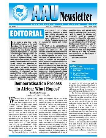 editorial - AAU Resource Center - Association of African Universities