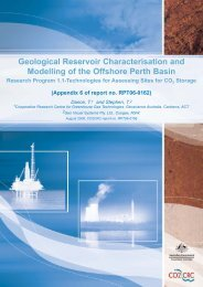 Geological Reservoir Characterisation and modelling of ... - CO2CRC