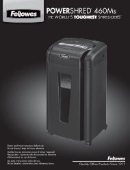 POWERSHRED® 460Ms 460Ms - Fellowes