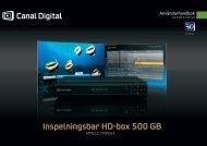 Inspelningsbar HD-box 500 GB - Canal Digital